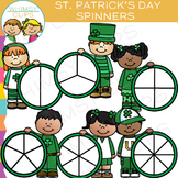 Kids Spinners for Saint Patrick's Day Clip Art