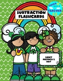 Saint Patrick's Day Subtraction Flashcards