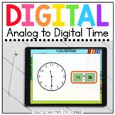 Saint Patrick's Day Telling Time Analog to Digital Activit