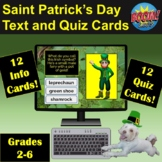 Saint Patrick's Day Text and Quiz Cards