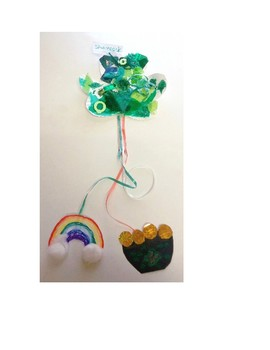 Saint Patrick's Day Textured Magic Collage Shamrock Wands