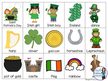Saint Patrick's Day Themed Bingo Game