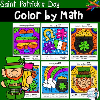 Saint Patrick's Day Themed Color by Code Math Activities
