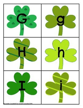 Saint Patrick's Day Themed Letter Recognition Centers and Puzzles