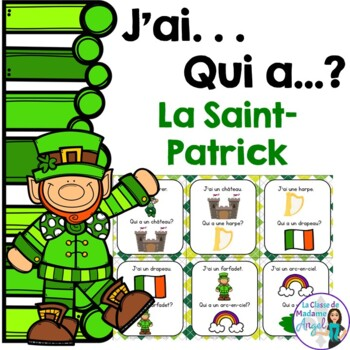Saint Patrick's Day Themed Vocabulary Game in French - J'a