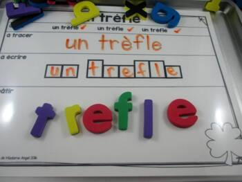 Saint Patrick's Day Themed Word Work Activity Mats in French