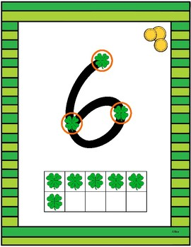Saint Patrick's Day Touch Math Posters