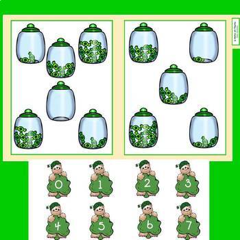 File Folder Games for Saint Patrick's Day Counting Activities