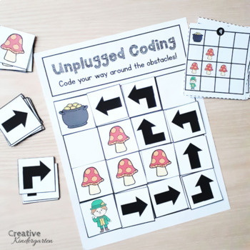 Saint-Patrick's Day Unplugged Coding Activity for Beginners (English and French)