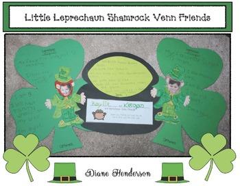 Saint Patrick's Day Venn Friends Writing Prompt Craftivity