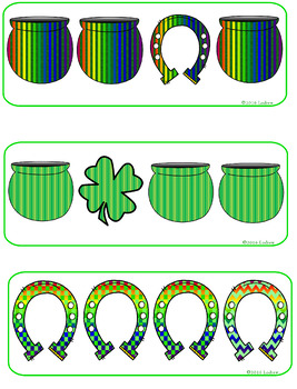 Saint Patrick's Day Centers Activities Visual Discrimination Centers St. Pat's