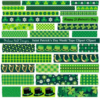 Saint Patrick's Day Washi Tape Clipart