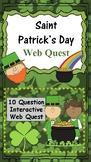 Saint Patrick's Day WebQuest