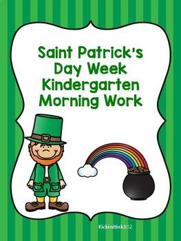 Saint Patrick's Day Week  Morning Work