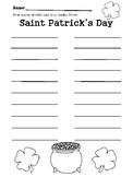 Saint Patrick's Day Word Hunt