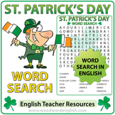 Saint Patrick's Day Word Search in English