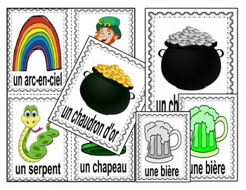 Saint-Patrick's Day-Write the Room FRENCH Version !-French Immersion/FSL