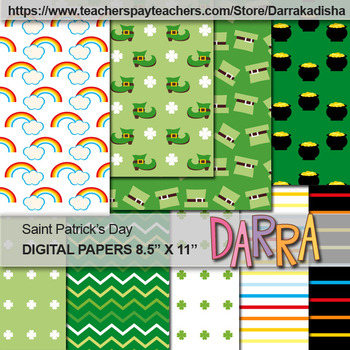 Saint Patrick's Day background - Digital paper for cover page