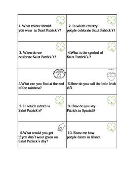 Saint Patrick´s ESL card game