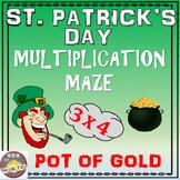 Saint Patrick's Math: Multiplication Maze