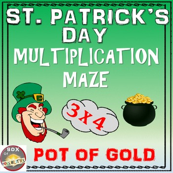 Saint Patrick's Math: Multiplication Maze