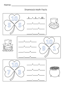 Saint Patrick's Packet First Grade