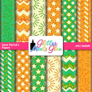 Saint Patrick's Day Paper   Scrapbook Backgrounds for Task Cards & Brag Tags 2