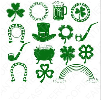 Saint Patrick's day SVG files for Silhouette Cameo and Cricut.