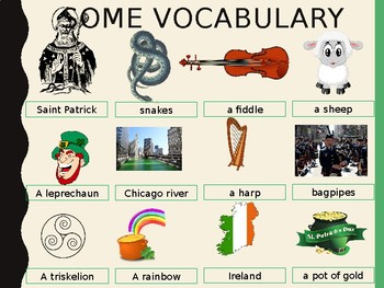 Saint Patrick's day interactive activities songs and videos