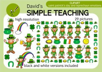 Saint Patrick's Clipart and Leprechaun emotions - San Patr