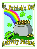 Saint Patrick's Day 15 Page Activity Fun Packet of Riddles, Coloring, and More!