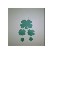 Saint Patricks Day 4 Leaf Clover 4 sizes from large to small - mobile or pattern