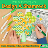 Saint Patricks Day Activities: Shamrock Roll-A-Dice Game, Art Sub Plan, & Prompt