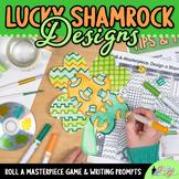 Saint Patricks Day Activities: Shamrock Roll-A-Dice Game,