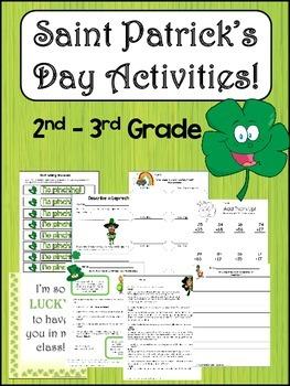 Saint Patrick's Day Activities, Writing. and Fun!