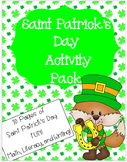 Saint Patrick's Day Activity Pack - Math, Literacy, and Writing