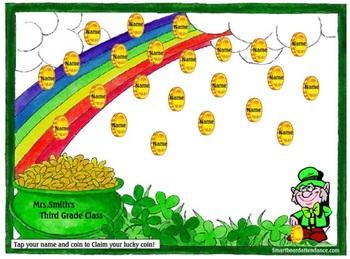 Saint Patrick's Day Animated Smartboard Attendance