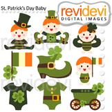 Saint Patrick's Day Baby Clip art digital