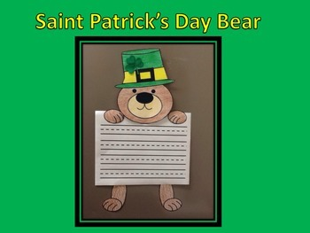 Saint Patrick's Day Bear Writing Craftivity