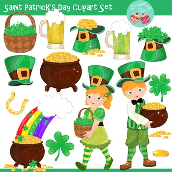 Saint Patrick's Day Clip Art Set