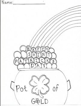 Saint Patricks Day Coloring Activity