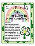 Saint Patrick's Day Craftivity ~ I Am Lucky To Have... Shamrock