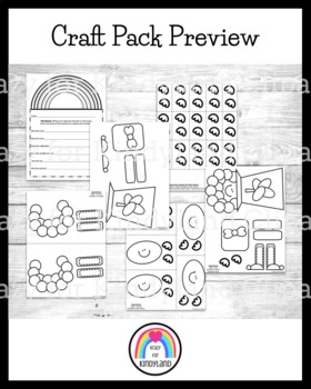 Saint Patrick's Day Craft Pack: Leprechaun,Hat,Pot of Gold, Rainbow, Shamrocks