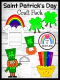 Saint Patrick's Day Craft Bundle: Leprechaun,Hat,Pot of Gold, Rainbow, Shamrocks