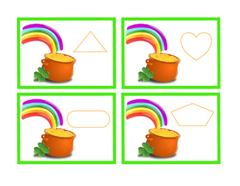 Saint Patricks Day Cut Paste Sentence Rainbow Gold 4 Leaf Clover Task Cards 5pgs