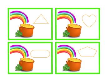 Saint Patricks Day Cut Paste Sentence Rainbow Gold 4 Leaf Clover Task Cards 5pgs