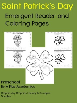 Preschool / Kindergarten Saint Patrick's Day - Read - Trace - Color
