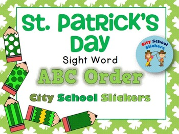 Saint Patrick's Day Freebie : Sight Word ABC Order