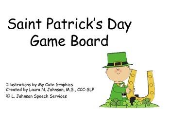 Saint Patrick's Day Game Board