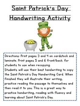 Saint Patrick's Day Handwriting